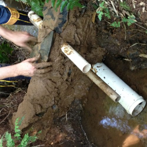 Cplocação do cano ladrão