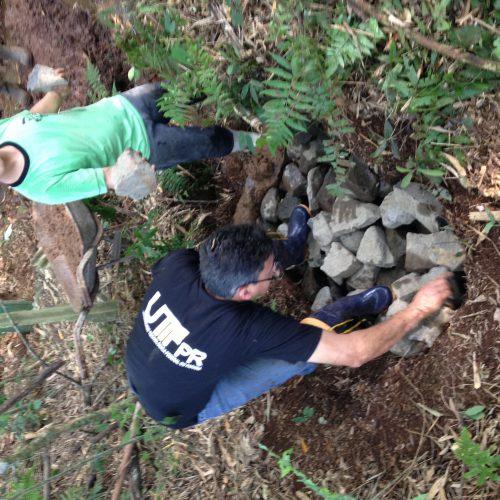 Colocação das pedras